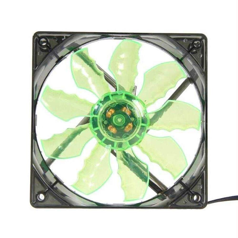 Best Quality - Fans & Cooling - New Green 15 LED Light Quite Cooler 120mm Fan DC 12V 4Pin PC Fan Computer Cooling Cool Fan for Mod Thermal pad Video Card - by VietFA - 1 PCs by VietFA