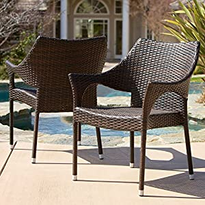 Superb Christopher Knight Home Cliff Outdoor Wicker Chairs (Set Of 2) Part 26
