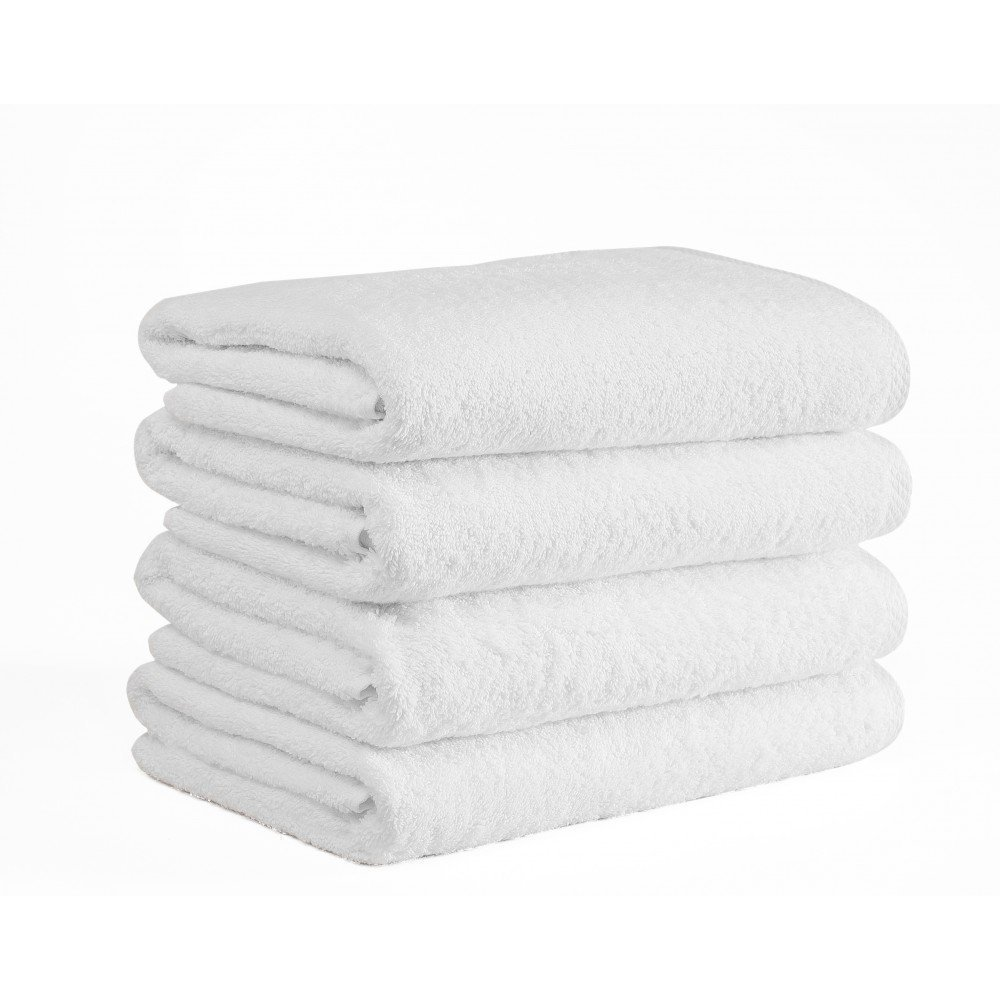 Extra Large Bath Towel Set of 4 100% Cotton Turkish Towels Premium Hotel Spa Quality, Soft Absorbent Oversized and Heavy Bath Sheet, 950 Grams - 39 Ounces (Large 40 87 Inch) Pack 4, (White)