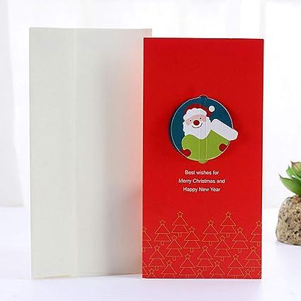 Amazon.com : CHITOP Santa Claus Christmas theme series card ...