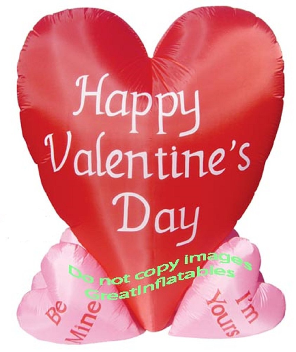 10f5e69885b43 UnknownCo-t Valentines Day Inflatable Heart Cluster AIRBLOWN Decoration
