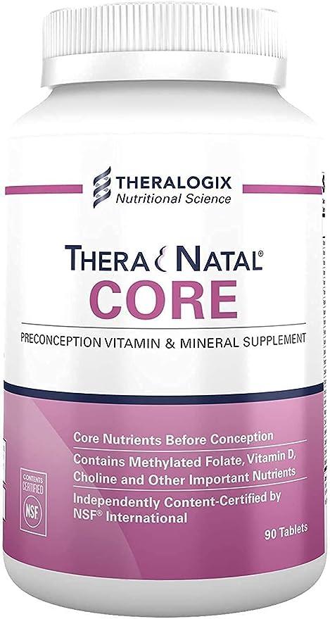 TheraNatal Core Preconception Vitamin & Mineral Supplement (90 Day Supply) | Prenatal Vitamin & Fertility Supplement for Women
