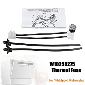 MAYITOP W10258275 Dishwasher Bimetal Thermal Fuse Link Exact for Whirlpool & Kenmore 661663 PS2360984 AP4423189
