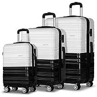 3pc Luggage Suitcase Trolley Set TSA Carry On Bag Hard Case Lightweight