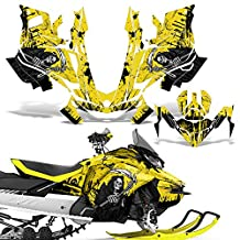 Ski-Doo Renegade 850 Summit G4 2017 Decal Graphic Kit Sled Snowmobile Wrap REAPER YELLOW