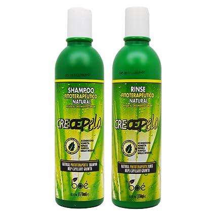 Boe CrecePelo Natural Fitoterapeutico Shampoo 12oz & Natural Fitoterapeutico Rinse 12oz Set by Boe