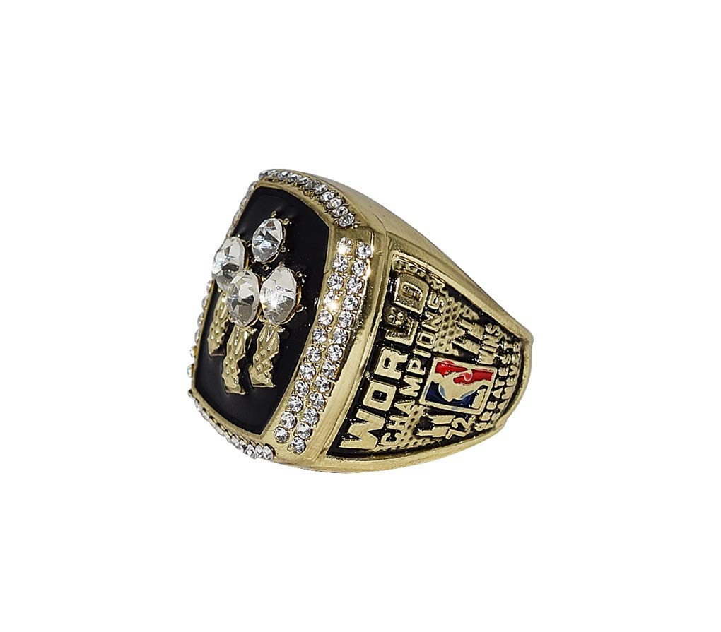 CHICAGO BULLS (Michael Jordan) 1996 NBA FINALS WORLD CHAMPIONS (Greatest Team Ever) 72 Wins Vintage Collectible High Quality Replica NBA Basketball Gold Championship Ring with Cherrywood Display Box