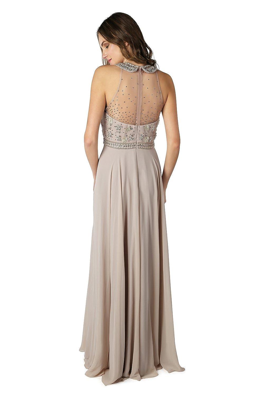 d712f79db85c Dynasty Spirito da donna Charisse Beige Vestito lungo senza sciarpa stile  1022820 Beige 36  Amazon.it  Abbigliamento