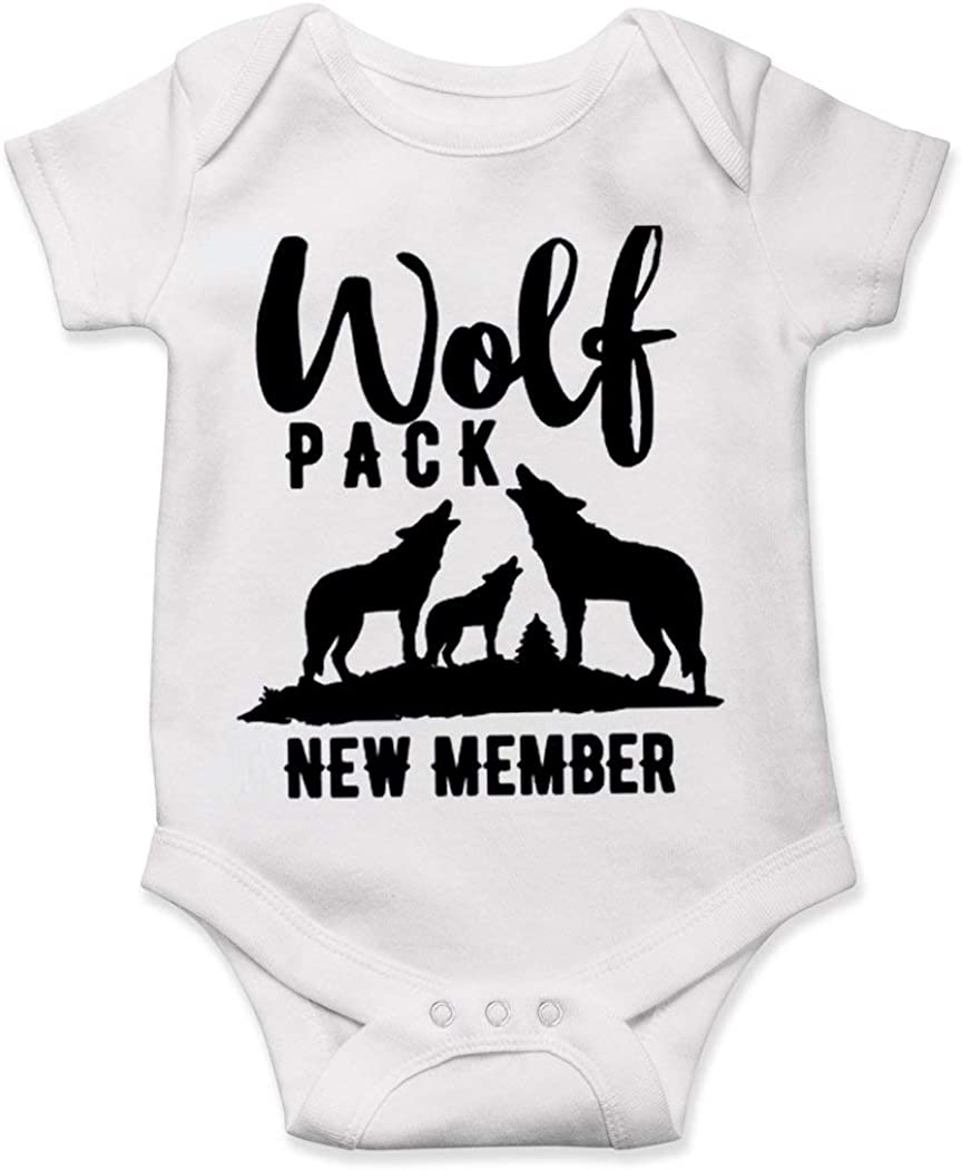 Lucky Star Wolf Pack Baby Newest Member of The Bodysuit Pregnancy Shower Gift Onesie