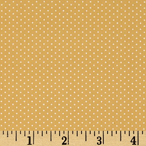 Robert Kaufman Kaufman Sevenberry Petite Basics Mini Dot Wheat Fabric by The Yard ()