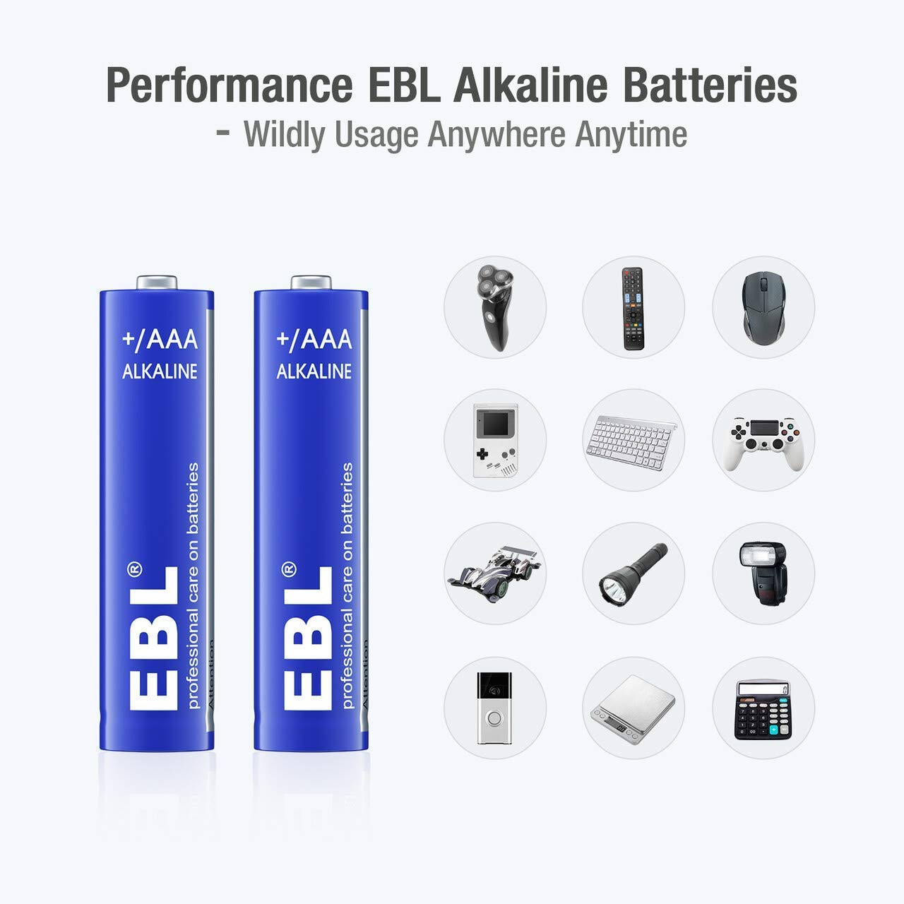 EBL Alkaline AAA Batteries (28 Count) - 1.5V Triple A Long-Lasting Alkaline Battery with 10-Year Shelf Life