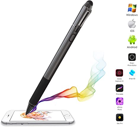 Time2 Broonel Black Fine Point Digital Active Stylus Pen Compatible with The TenYiDe 10.1 Inch Tianyida 10 Inch 3G Phablet 10 inch Tablet