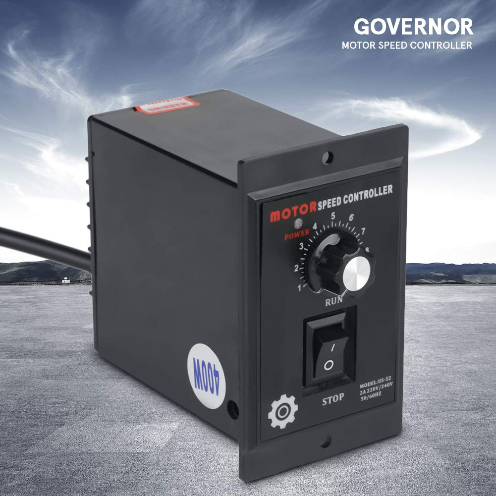 Speed Controller, 400W Motor Speed Controller Governor or AC 220V Motor Speed Controller Forward & Backward Suitable for Printing, Electronics, Instrumentation, Medical Equipment by Aufee (Image #5)