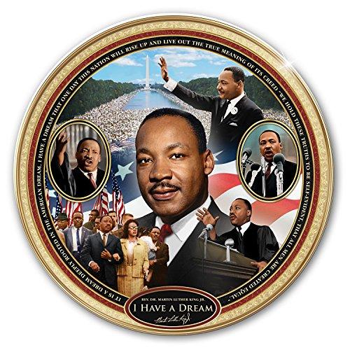 The Bradford Exchange I Have A Dream: Rev. Dr. Martin Luther King Jr. Heirloom Porcelain Collector Plate