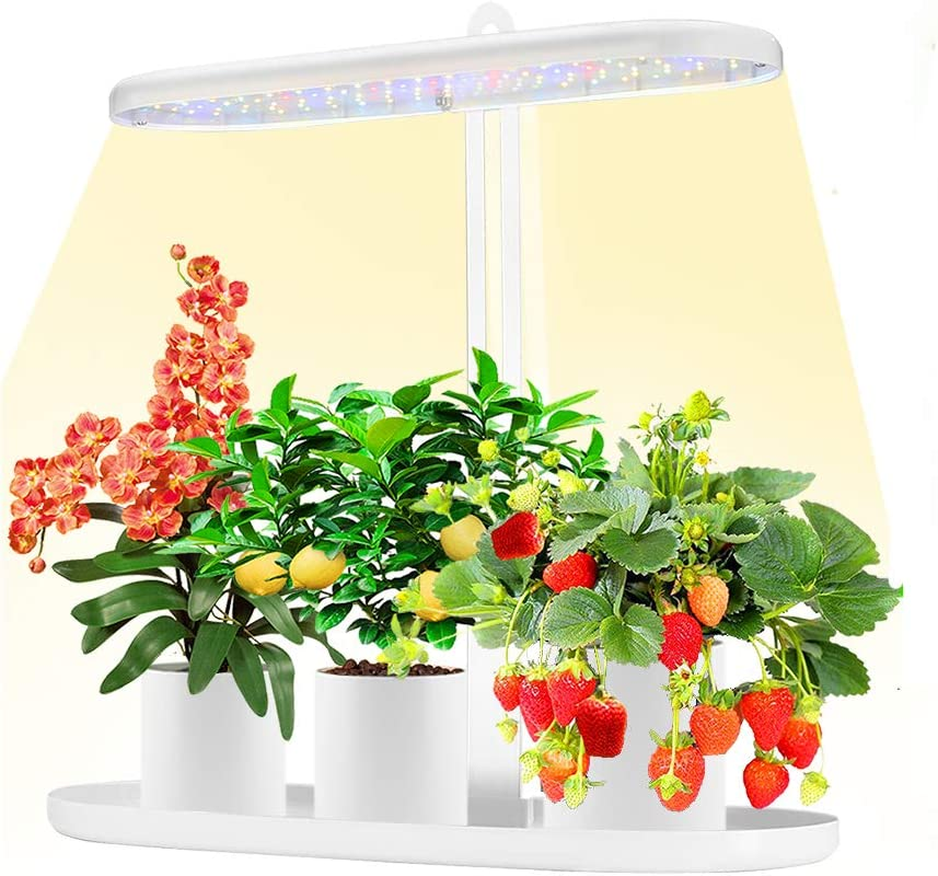 Indoor Garden Kit,Herb & Kitchen Garden Grow Light,Full Spectrum Plant Light with Auto ON/Off 2/4/8H Timer, 4 Dimmable Brightness for Indoor Plant Growth