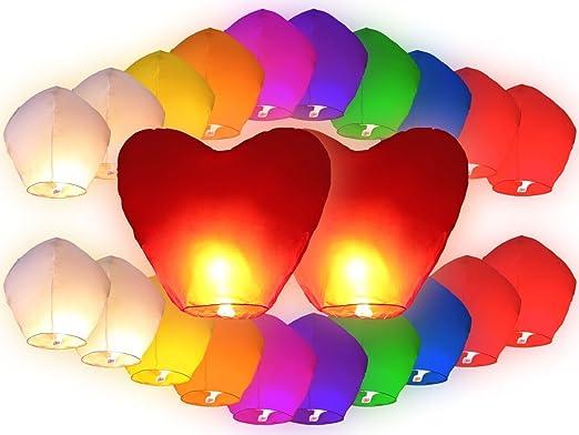 4 opinioni per PROMOZIONE: 22 PZ Lanterne cinesi volanti (20 PZ lanterne multicolore Misti + 2