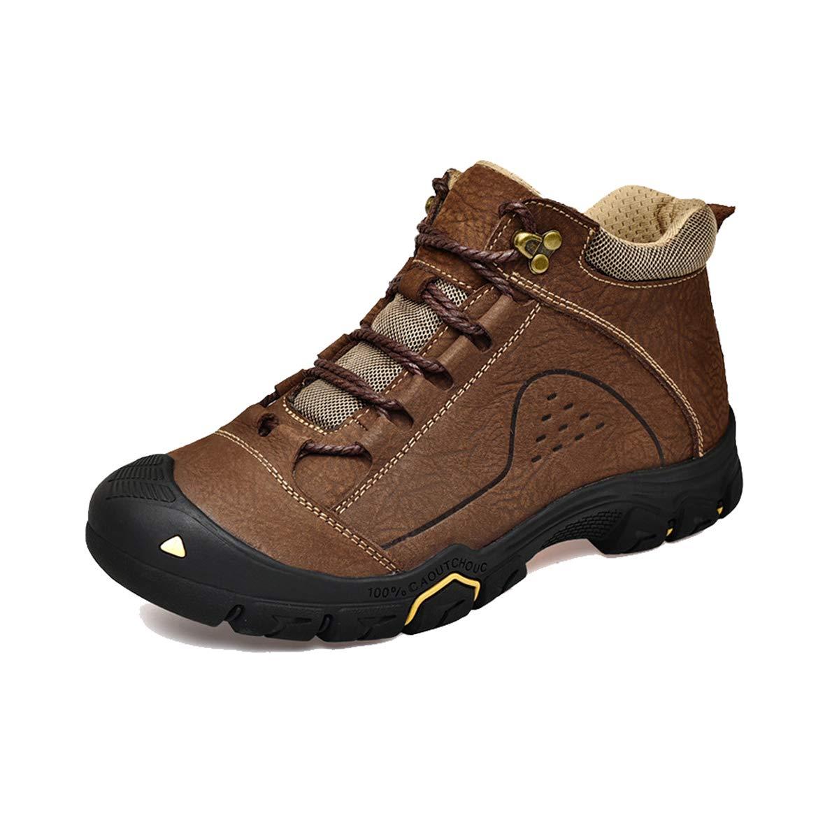 C GDXH Nouvelles Chaussures,Mens Chaussures de randonnée Jungle Trekking Chaussures Lacets Chaussures imperméables Chaussures Basses-Haut 38EU