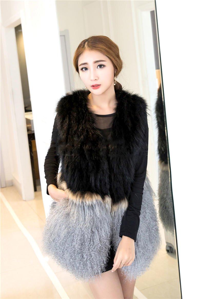 Generic Real_hair_fox_ fur _fur_ Women girl new _fox_ fur coat fur vest beach wool fur lady _special_clearance