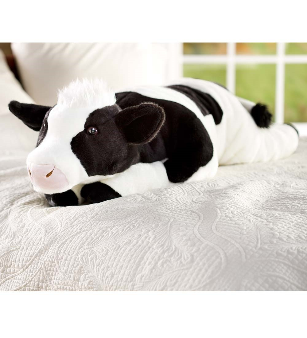 Plow & Hearth Cuddly Cow Body Pillow