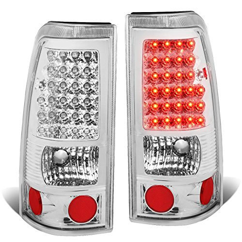For Chevy Silverado/GMC Sierra Pair of Black Chrome Clear Lens LED Brake Tail Lights