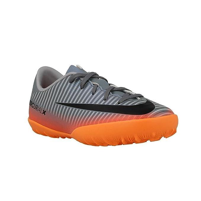 923b04e1d6c7a Botas Nike Victory 6 Cr7 Gris Naranja Suela Turf Niño  Amazon.es  Ropa y  accesorios