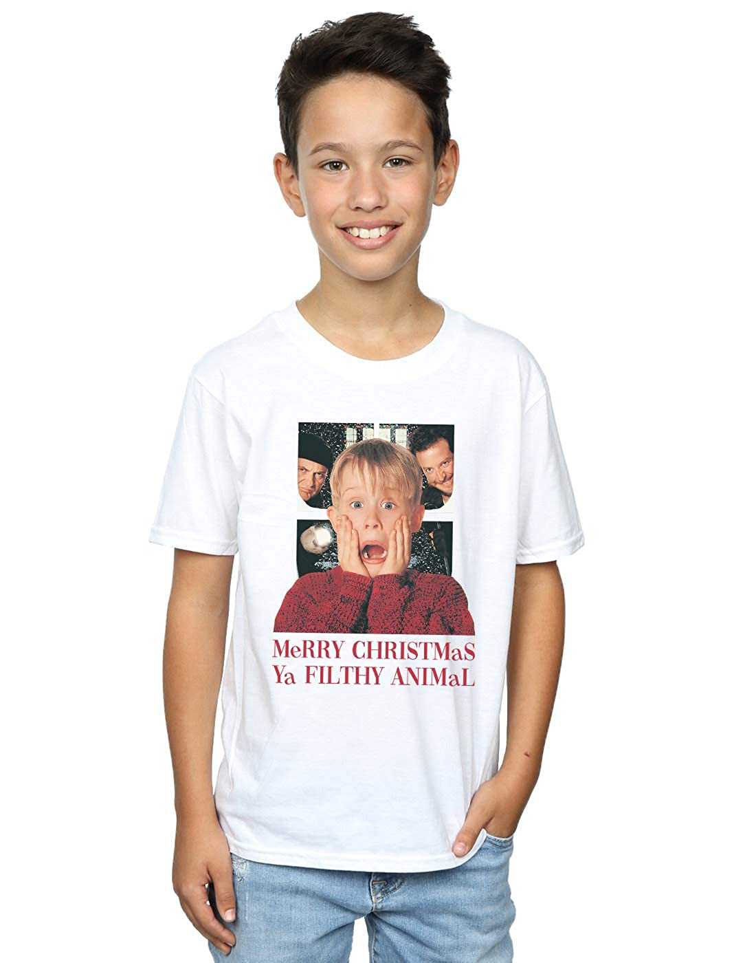 Home Alone Boys Merry Christmas Ya Filthy Animal T-Shirt Absolute Cult