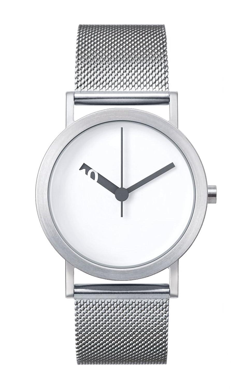 Normal Timepieces Extra Normal Quarz Edelstahl Stahlnetz Weiß Frau Uhren