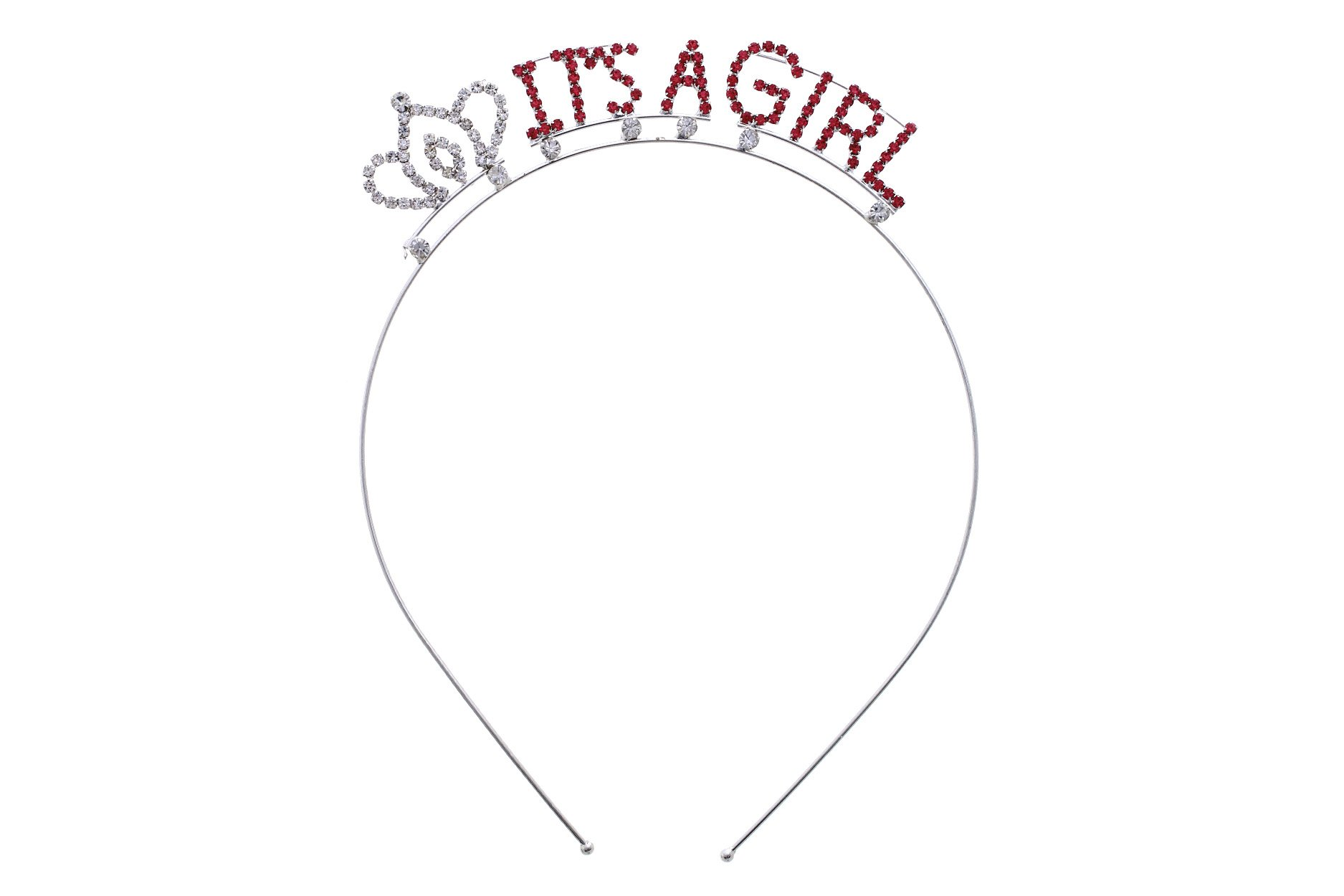 Rosemarie Collections Women's Baby Shower Tiara Headband (It's A Girl)