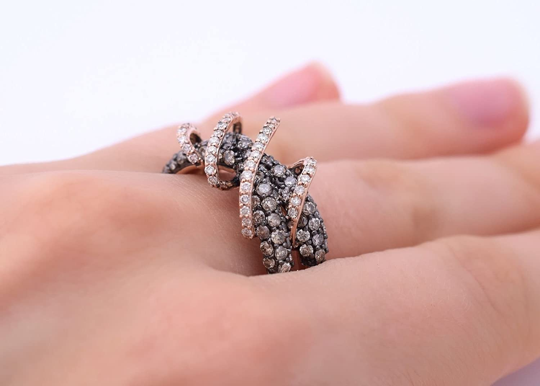 Amazon.com: LeVian Chocolate and White Diamonds 1 3/4 cttw Gladiator ...
