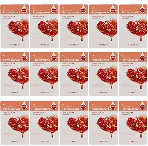 The Face Shop Real Nature Mask Pomegranate 15 Sheets