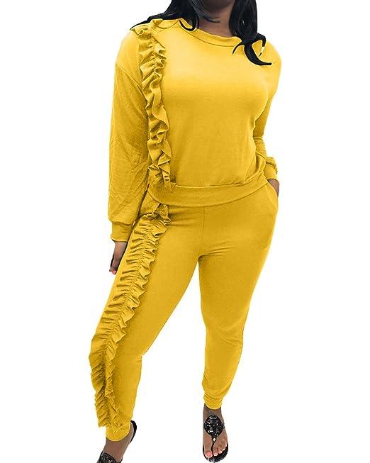 Mujer Elegante Manga Larga Traje Pantalones Larga Blusa: Amazon.es: Ropa y accesorios