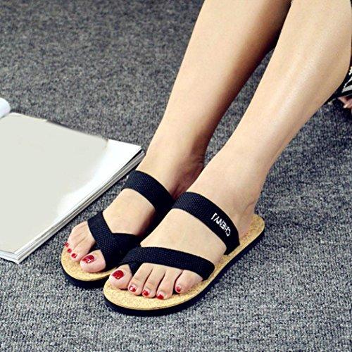 Transer 2017 1Pair Las mujeres sandalias del verano deslizador de los zapatos de interior al aire libre Chanclas de playa Amarillo