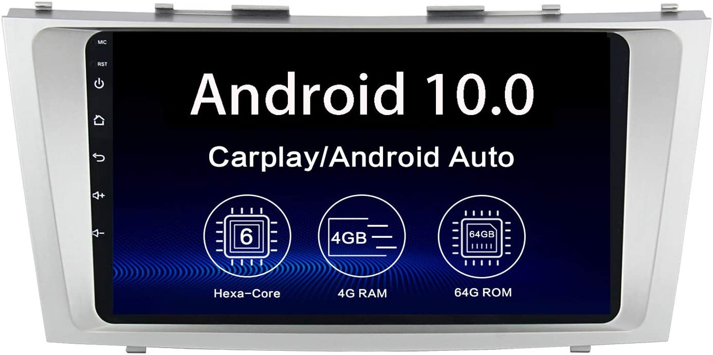 Dasaita 9 Android 10.0 Car Stereo for Toyota Camry 2006 2007 2008 2009 2010 2011 Bluetooth 5.0 Radio GPS Navigation Video Player Hexa Core 4G 64G PX6 DSP Android Auto Wireless Carplay 1280 X 720 HD