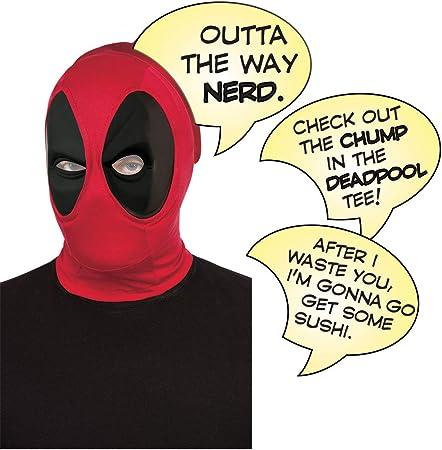 Rubies - Juego de máscara de Deadpool oficial de Disney Marvel Deadpool y burbujas de discurso, regalo de lujo, talla única: Amazon.es: Juguetes y juegos