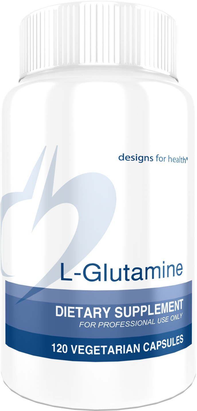 Designs for Health - L-Glutamine - 850mg, Amino Acid Leaky Gut + Immune Support, 120 Capsules