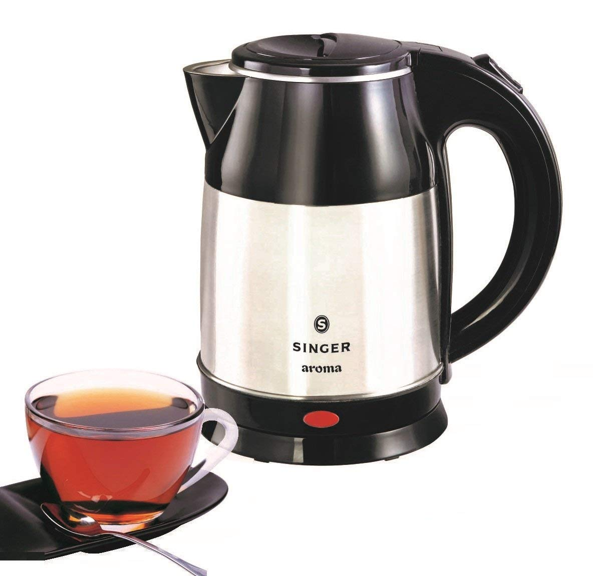 Buy Singer Aroma 1.8-Litre Electric Kettle (Silver/Black) Online at Low Prices in India - Amazon.in