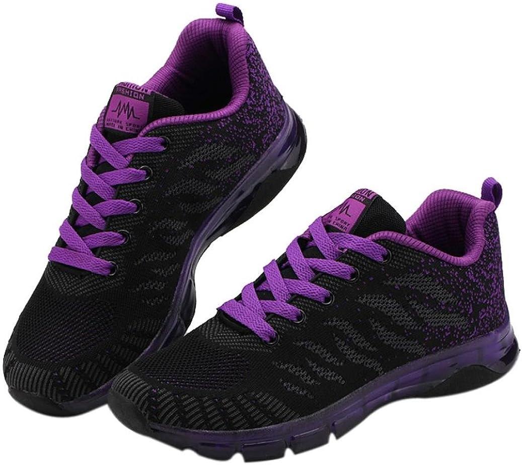 Logobeing Zapatillas de Deporte con Cojines de Aire Calzado de Running Net para Estudiante Volar Zapatos Tejidos Zapatillas Deportivas de Mujer Gimnasia Sneakers 35-41