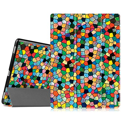 Fintie iPad Pro 12.9 Case - Ultra Slim Lightweight Smart Shell Standing Cover with Auto Sleep / Wake Feature for Apple 12.9-inch iPad Pro (2015 Version), Stained Glass Mosaic (Stained Glass Ipad Mini Case)
