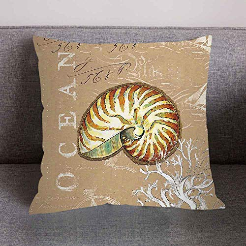 Hurrybuy Marine Animal Print Polyester Throw Pillow Case Cushion Cover Home Sofa Decorative 18 X 18 Inch ()