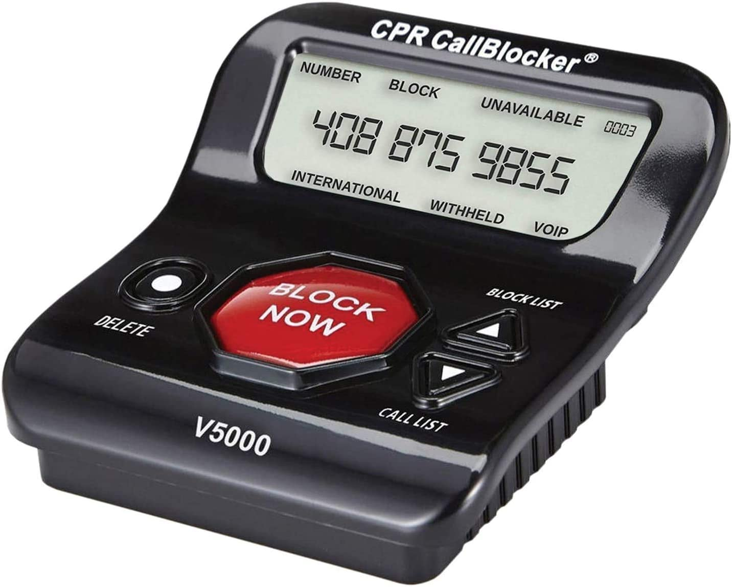 CPR V5000 Call Blocker for Landline Phones – Stop All Unwanted Calls at a Touch of a Button - Over 1 Million Sold - As Seen On TV: Office Products