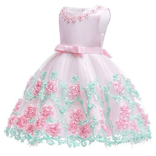 2019 Latest Design Girls Satin Mesh Christmas Sleeveless Flower Girl Dress High-waist Princess Pageant Birthday Holiday Wedding Party Dress Sz 2-10 Matching In Colour Flower Girl Dresses Weddings & Events