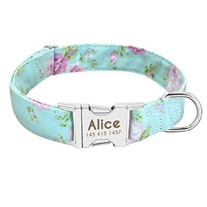816467d3f09b Makakuki Collars - Dog Collar Personalized Nylon Pet Dog Tag Collar Custom  Puppy Cat Nameplate ID