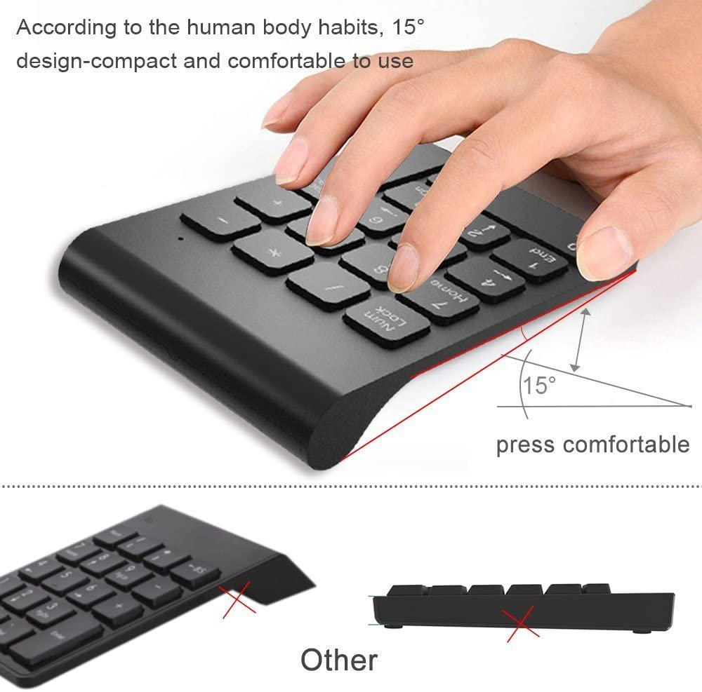 / Keyboard/ / / Wired QSJWLKJ Small-Size 2,4 GHz Wireless Numeric Keypad Numpad 18 Keys Digital
