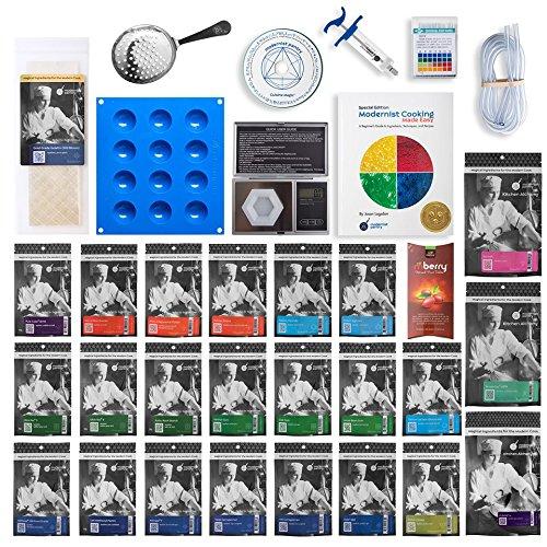ULTIMATE Molecular Gastronomy ''Made Easy'' Starter Kit + Bonus 300 Recipe CD ⊘ Non-GMO ❤ Gluten-Free ✡ OU Kosher Certified Ingredients