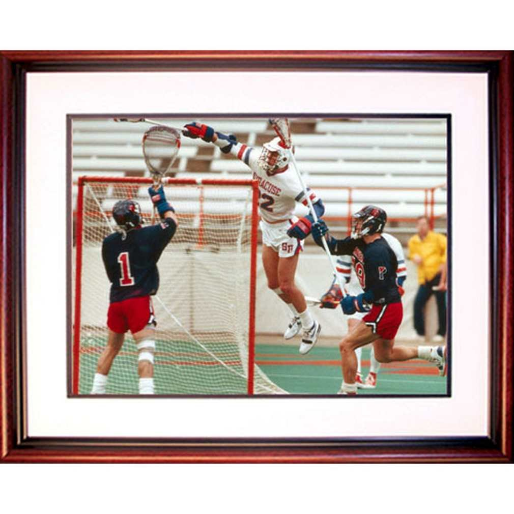 NCAA Syracuse Orange Gary Gait Air Lacrosse Framed Igned 16x20 Photo