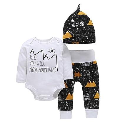 """chshe 3pc trajes recién nacido mezcla de algodón para bebé patrones de Graffiti y """""""