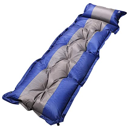 Outdoor Air Inflatable Cushion Mattress Travel Poisture-proof Sleeping Pad Beds