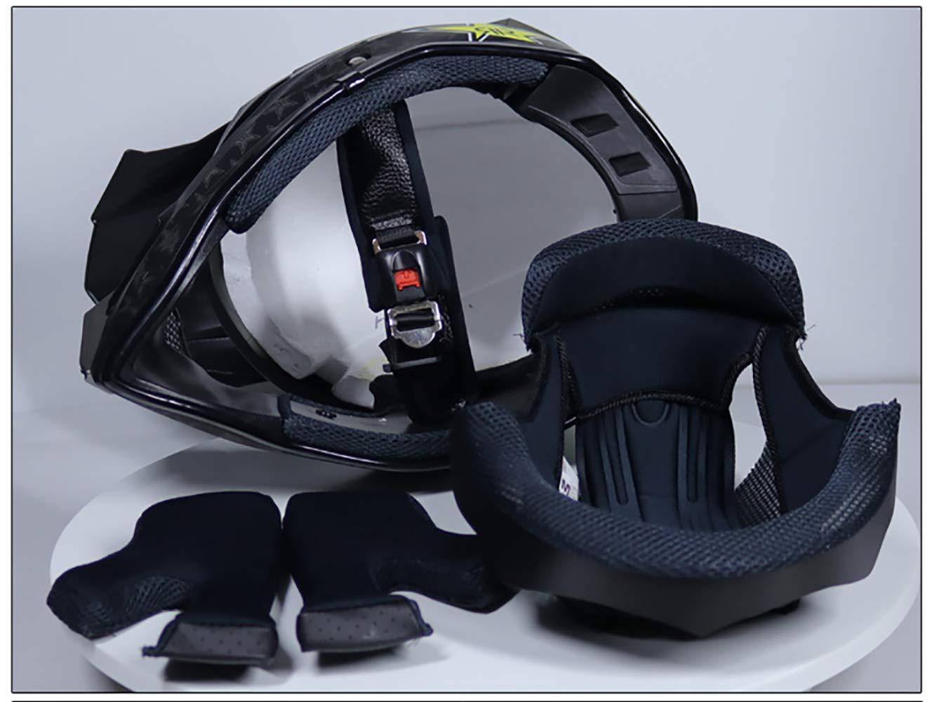Helmet Casco de Motocicleta para Adultos y ni/ños con certificaci/ón Dot//combinaci/ón de Fox Rojo y Blanco Casco + Ocular + Guantes + Conjunto de Cuatro Piezas con m/áscara Casco Ligero de monta/ña