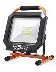 LED Work Light Outdoor, Tacklife 5000LM 50W Flood Light, Best Heat Dissipation Security Light, IP65 Waterproof, Adjustable Standing Work Lights for Workshop, Construction Site LWL3B