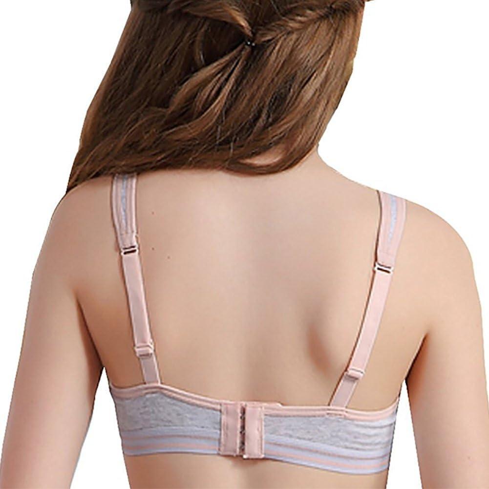 Emmarr Big Girls Slim Soft Cup Bras Hasp Teen Small Vest Design Wireless Bra